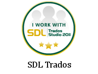 I work with SDL Trados Studio 2011.